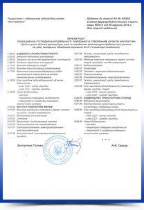 Перечень допустимых работ компании ООО Экотехника